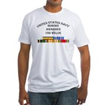 USS Willis Fitted T-Shirt