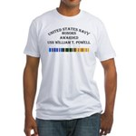 USS William T Powell Fitted T-Shirt