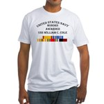USS William Cole Fitted T-Shirt