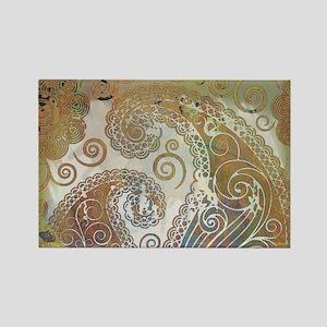 vintage color paisley s Magnets