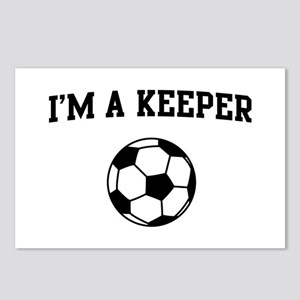 I'm a keeper soccer Postcards (Package of 8)