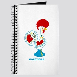 Portuguese Rooster in white Journal