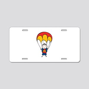 Parachute Boy Aluminum License Plate