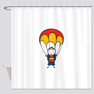 Parachute Boy Shower Curtain