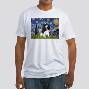 Starry Night Tri Cavalier Fitted T-Shirt