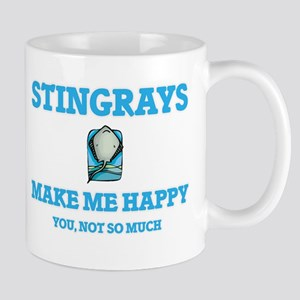 Stingrays Make Me Happy Mugs
