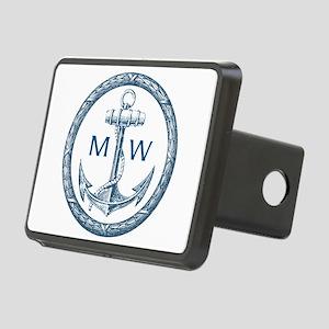 Anchor, Nautical Monogram Hitch Cover