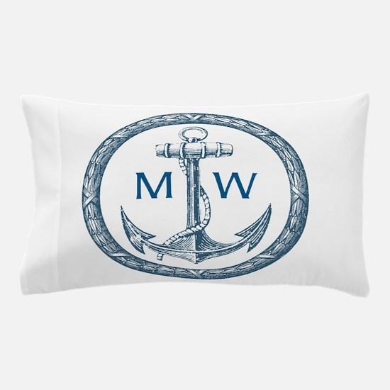 Anchor, Nautical Monogram Pillow Case