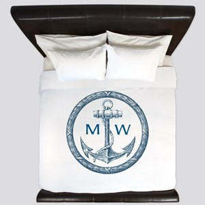 Anchor, Nautical Monogram King Duvet