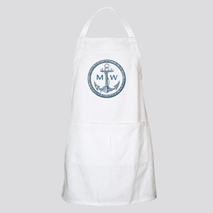 Anchor, Nautical Monogram Apron