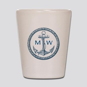 Anchor, Nautical Monogram Shot Glass