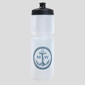Anchor, Nautical Monogram Sports Bottle