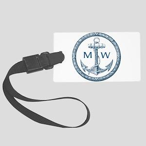 Anchor, Nautical Monogram Luggage Tag