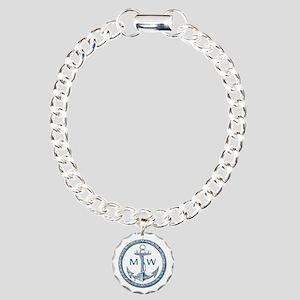 Anchor, Nautical Monogram Bracelet