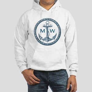 Anchor, Nautical Monogram Hoodie