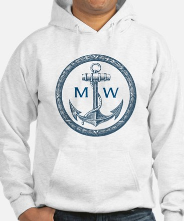 Anchor, Nautical Monogram Hoodie