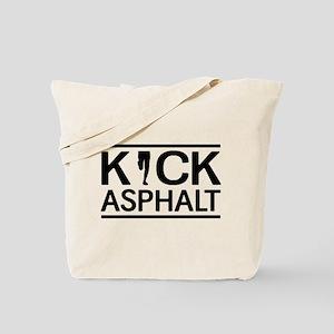 Kick asphalt Tote Bag