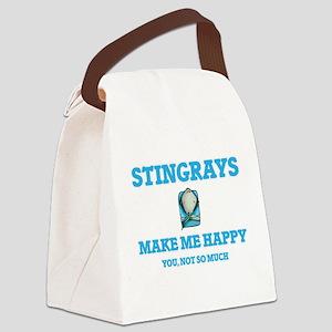 Stingrays Make Me Happy Canvas Lunch Bag
