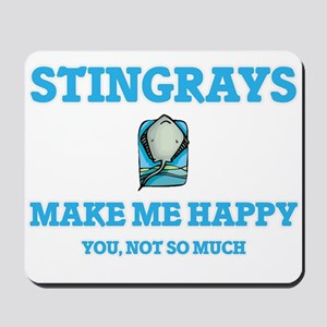 Stingrays Make Me Happy Mousepad