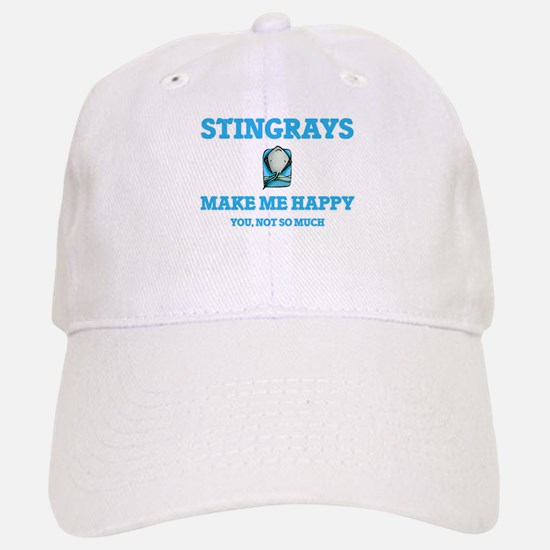 Stingrays Make Me Happy Baseball Baseball Cap
