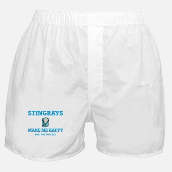 Stingrays Make Me Happy Boxer Shorts