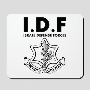 IDF Israel Defense Forces - ENG - Black Mousepad