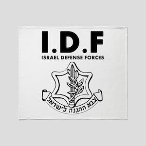 IDF Israel Defense Forces - ENG - Black Throw Blan