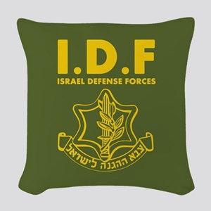 IDF Israel Defense Forces - ENG Woven Throw Pillow