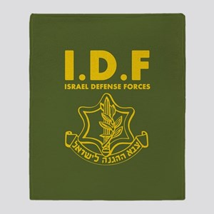 IDF Israel Defense Forces - ENG Throw Blanket