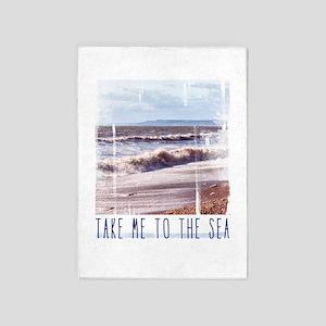 Take me to the sea 5'x7'Area Rug