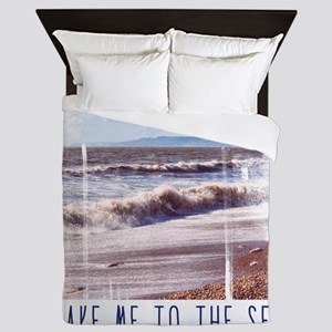 Take me to the sea Queen Duvet