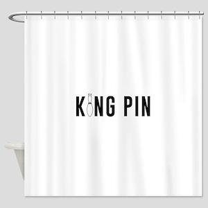 King pin Shower Curtain