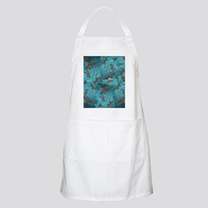 Dragonfly Flit Turquoise Apron