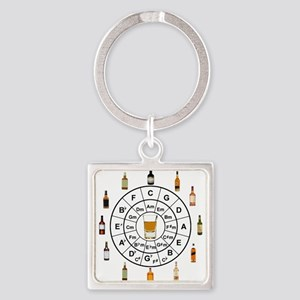Circle of Whiskey 5th Keychains