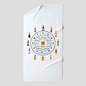Circle of Whiskey 5th Beach Towel