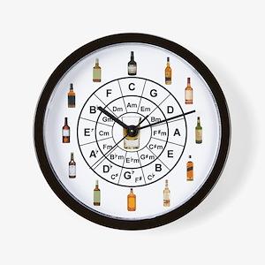Circle of Whiskey 5th Wall Clock