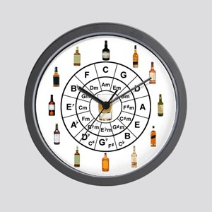 Circle of Whiskey 5th Wall Clock