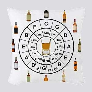 Circle of Whiskey 5th Woven Throw Pillow