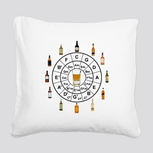 Circle of Whiskey 5th Square Canvas Pillow