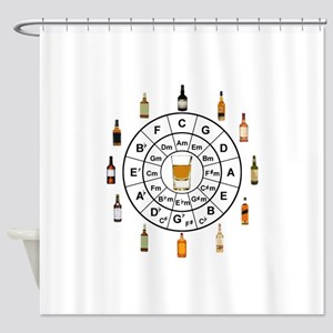 Circle of Whiskey 5th Shower Curtain