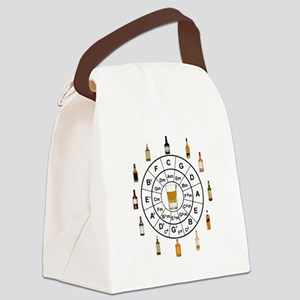 Circle of Whiskey 5th Canvas Lunch Bag