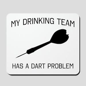 Drinking team dark problem Mousepad