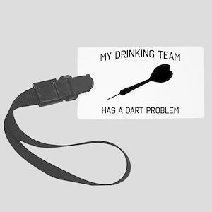 Drinking team dark problem Luggage Tag