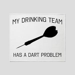 Drinking team dark problem Throw Blanket