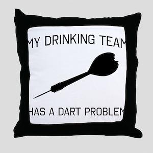 Drinking team dark problem Throw Pillow