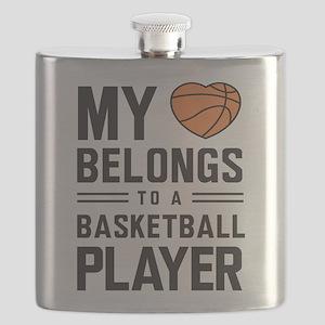 Basketball Couple Flasks Cafepress