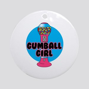 Gumball Girl Ornament (Round)