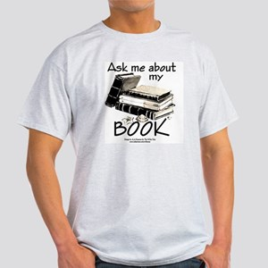 Pocket Design: Ask Me About My Book Light T-Shirt