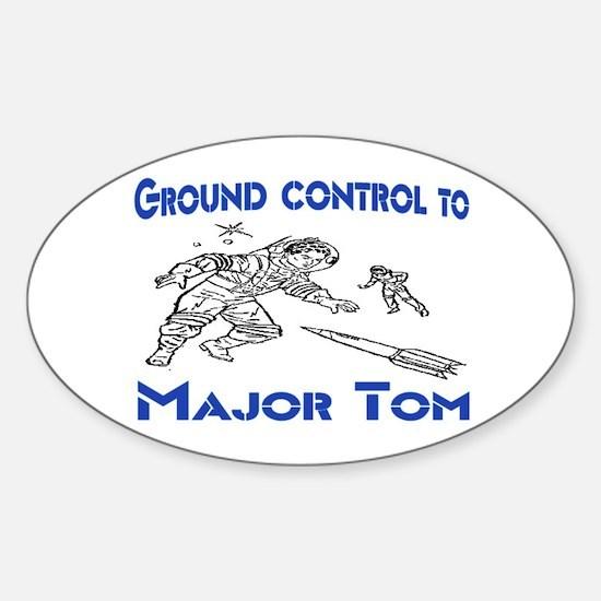 MAJOR TOM Sticker (Oval)
