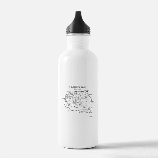 Lawyer's Brain Water Bottle